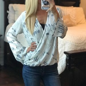 Love Stitch Long Bell Sleeve Top